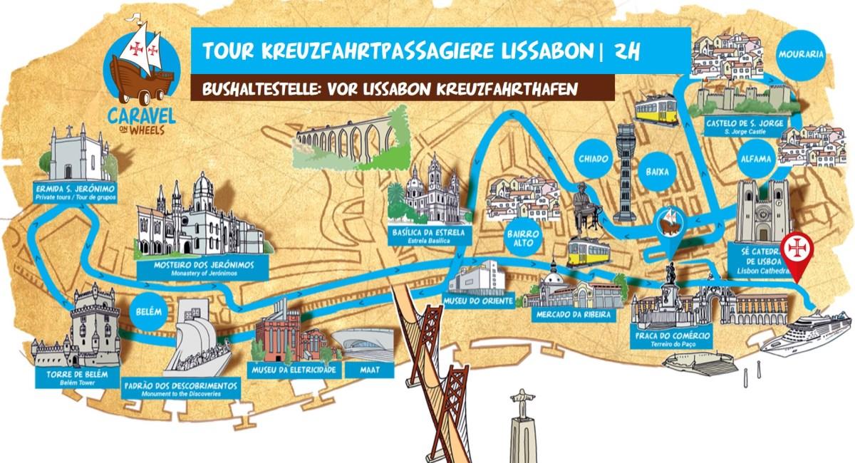 LISSABON PORT MAP AUSFLUG Kreuzfahrtschiff from hafen bus