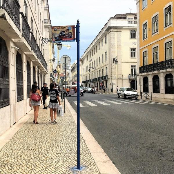 Lisboa parada autobus baixa rua do comercio
