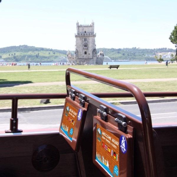 Lissabon Landausflug panorama sightseeing bus Deutsch