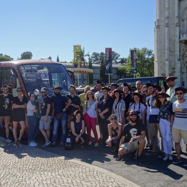 grupo privado em Lisboa autocarro caravela paragem belem